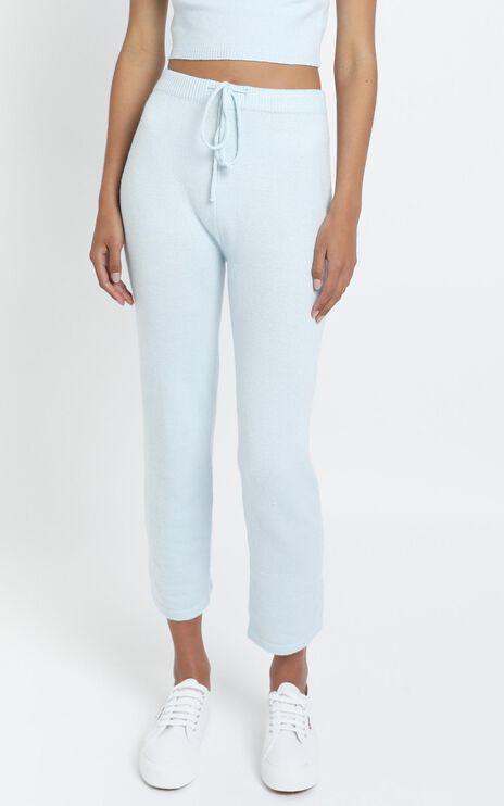 Aleesha Knit Pants in Blue