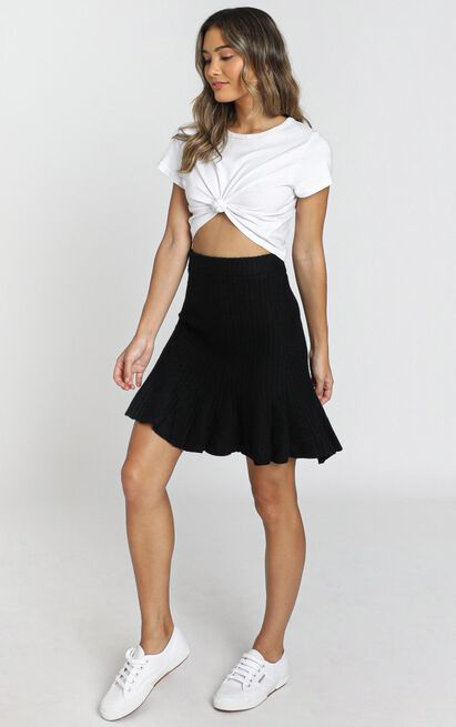 Envy Knitted Skirt in black - 6 (XS), Black, hi-res image number null