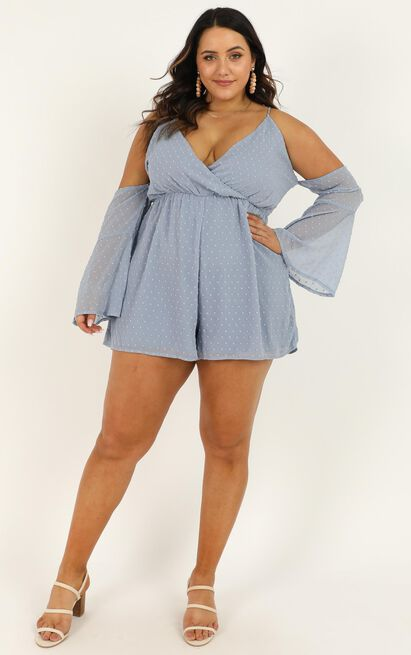 We Love Without Reason Playsuit in dusty blue - 20 (XXXXL), Blue, hi-res image number null