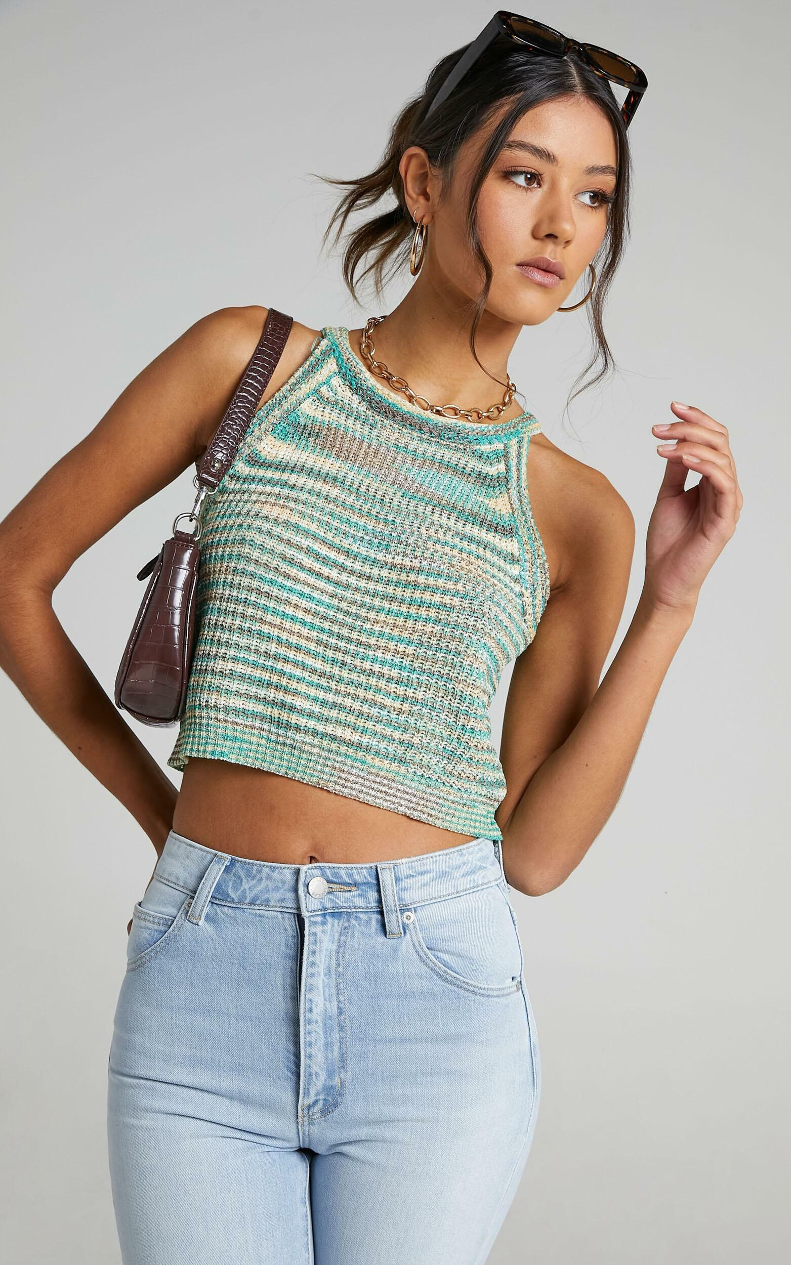 Bexley Top in Green Space Dye - S/M, GRN1, super-hi-res image number null