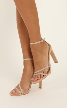 Billini - Iniko Heels In Blush Micro