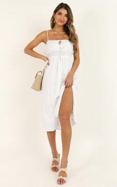 Speaking Fondly Dress In White