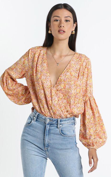 Lyrica Bodysuit in Blushing Floral