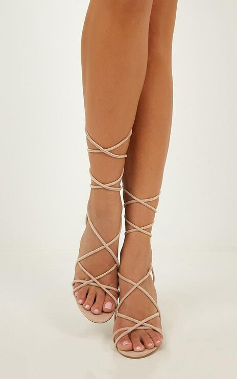 Billini - Lula Heels In Blush Micro