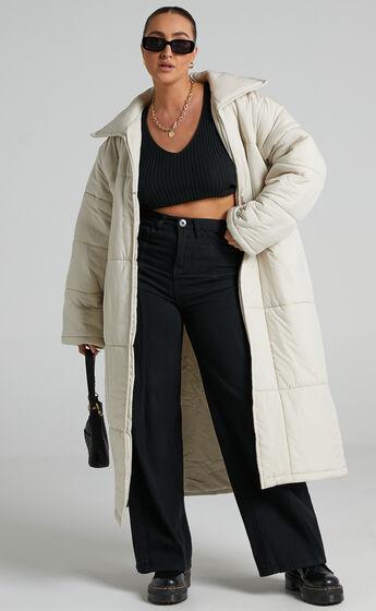 Shellie Puffer Coat in Cream