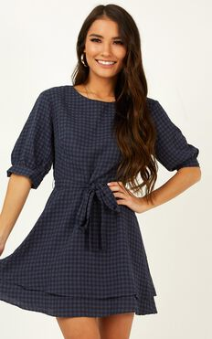 Constant Search Dress In Navy