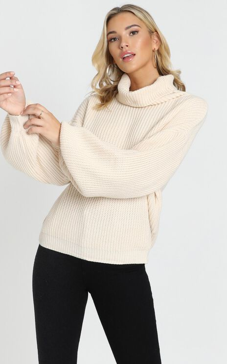 Steam Ahead Knit Jumper in Cream