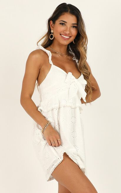 Ok Honey Dress in white embroidery - 20 (XXXXL), White, hi-res image number null