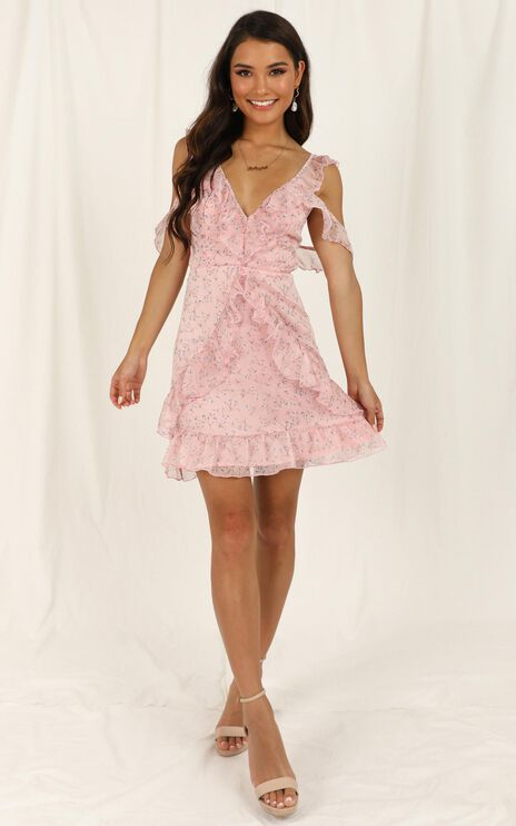 At A Stand Still Dress In Blush Floral