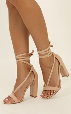 Billini - Juno heels in blush micro