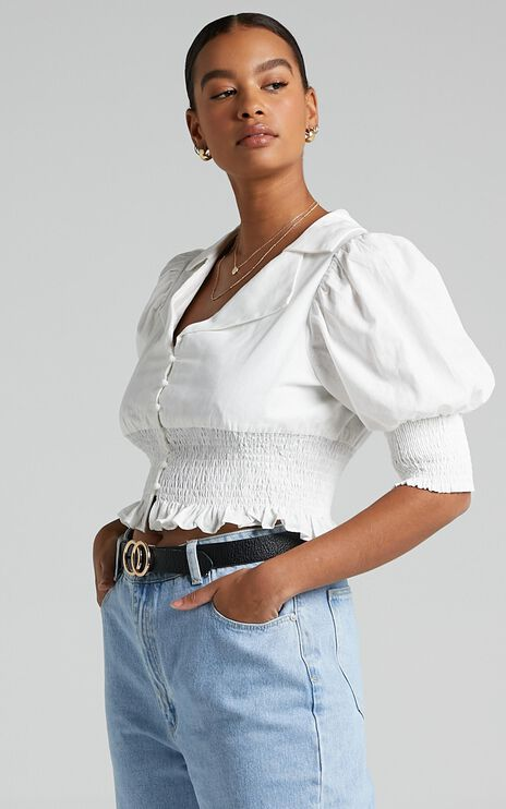 Nerio Top in White