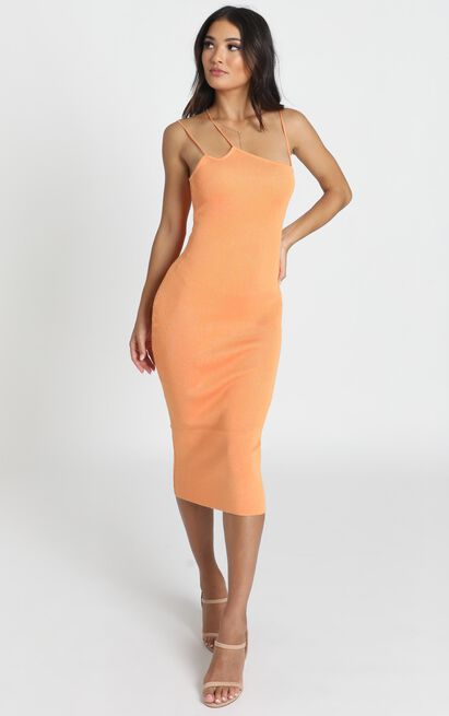 Alive At Midnight Dress in mango - M/L, Orange, hi-res image number null