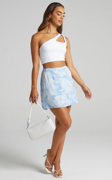 Sharnice Skirt in Blue Marble