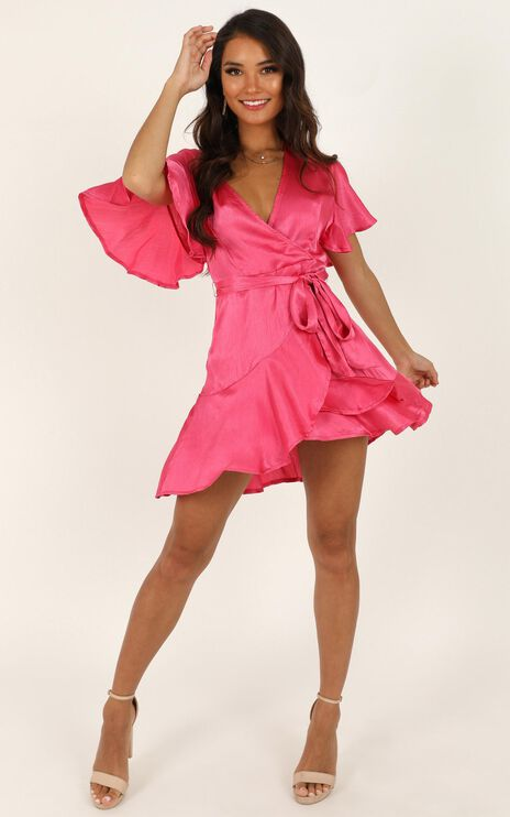 All I Want To Be Dress In Hot Pink Satin