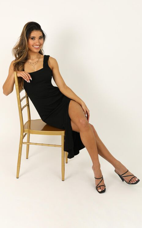 Sticking With My Strengths Dress In Black