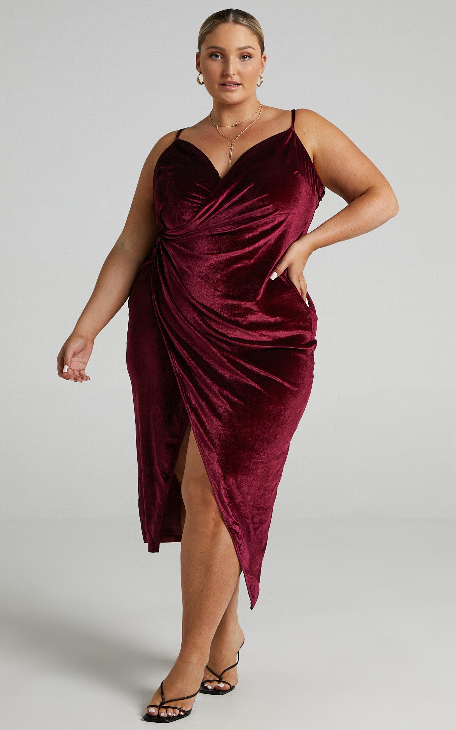 Loving Blind Dress in Wine Velvet - 14, WNE2, super-hi-res image number null