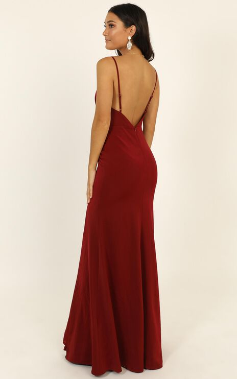 Belle Of The Ball Maxi Dress In Wine
