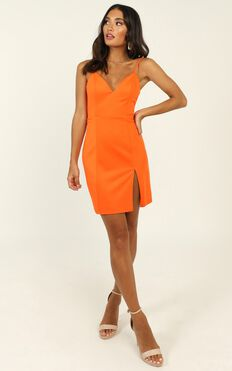Lets Unwind Dress In Tangerine