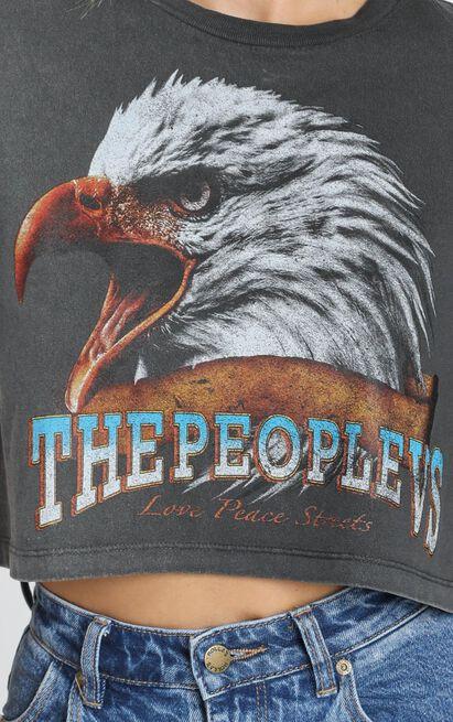 The People Vs - Vulture Crop Tee - Vintage Black - 6 (XS), Black, hi-res image number null