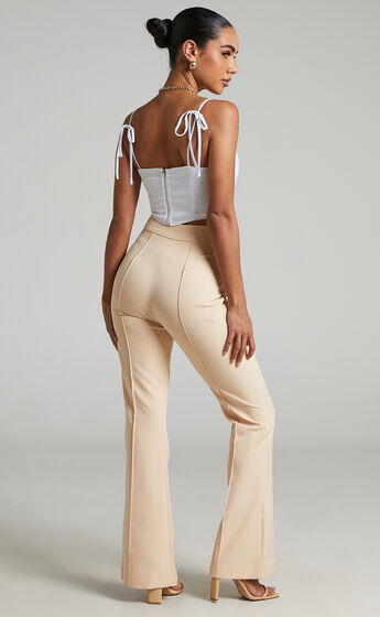 Roschel Flared Pants in Stone