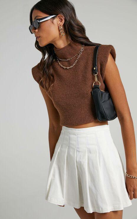 Crawford Knit Vest in Beige