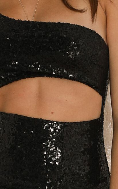 Losing Track Of Time Dress in black sequin - 20 (XXXXL), Black, hi-res image number null