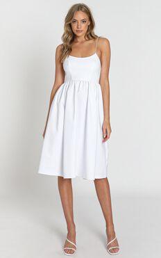 Wild Nights Dress In White