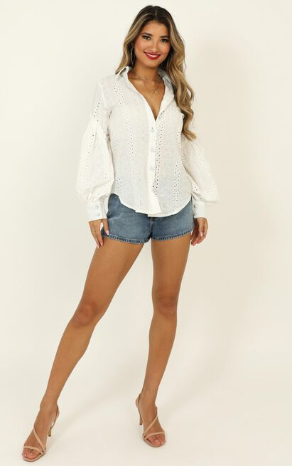Beautiful Things embroidery shirt in white - 14 (XL), White, hi-res image number null