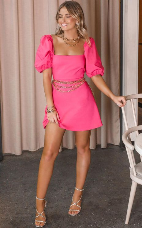 Dolls Baby Dress In Hot Pink