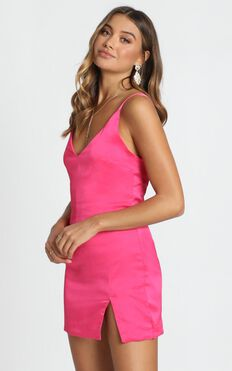 Bigger Than Life Dress In Hot Pink