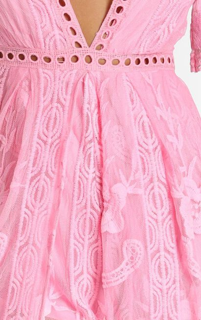 Now Shes Got It Playsuit in pink lace - 20 (XXXXL), Pink, hi-res image number null