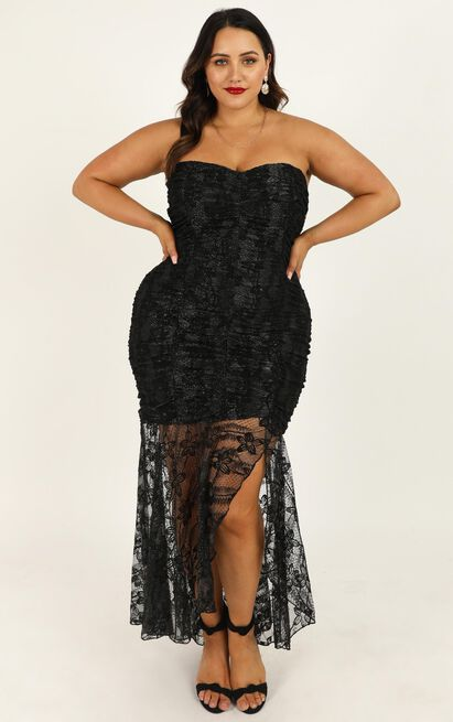 Weekend Vibes Dress in black lace - 20 (XXXXL), Black, hi-res image number null