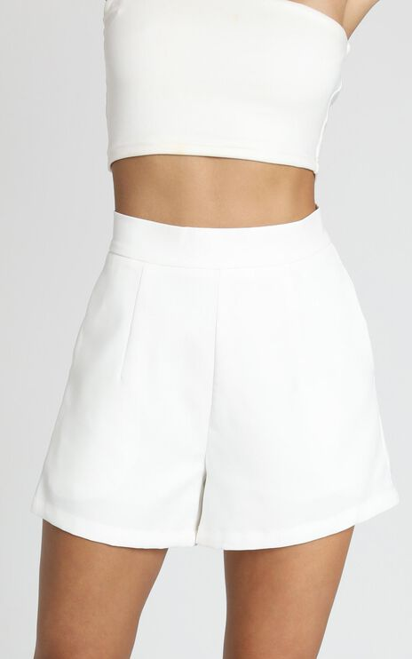 Along The Ride Shorts In White