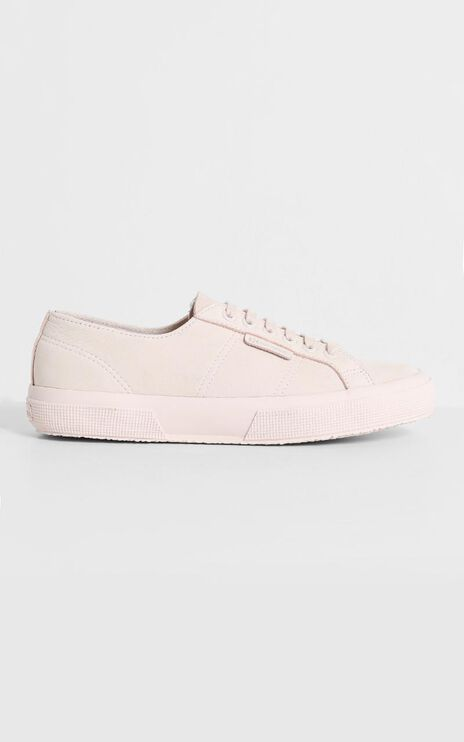 Superga - 2750 Buttersoft Leather Sneaker in tonal pink peach blush