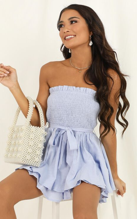 Mutual Love Playsuit In Blue