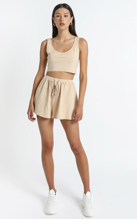 Liora Two Piece Set in Beige