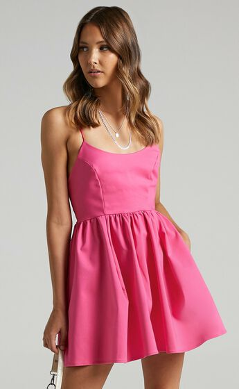 You Got Nothing To Prove A-line Mini Dress in Pink