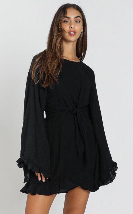 Ophelia Tie Front Dress in Black