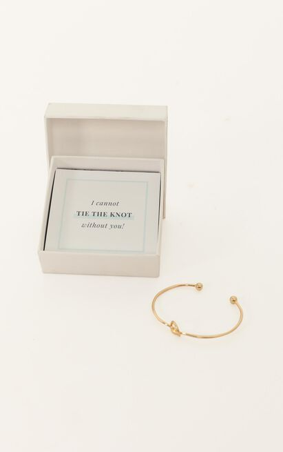 Bridesmaid Proposal Bangle In Gold, , hi-res image number null