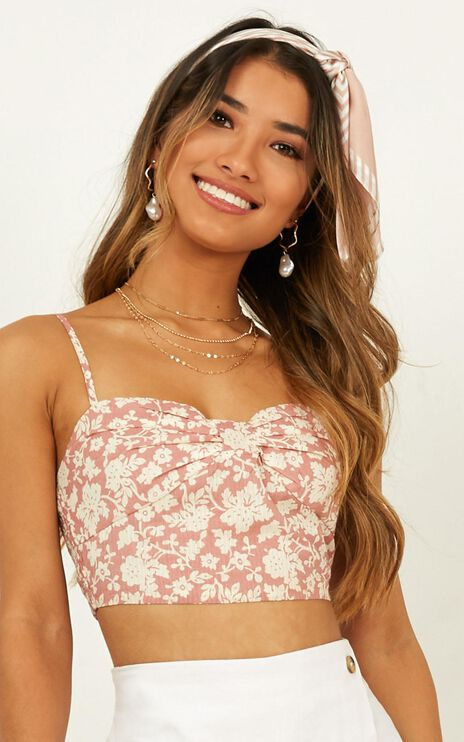 Rosy Cheeks Top In Blush Floral