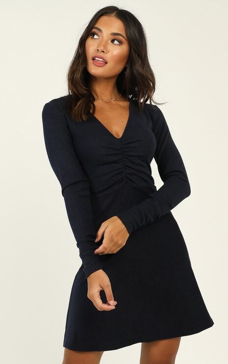 Explore Your Mind Dress In Navy