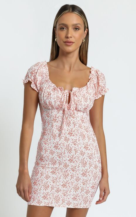 Arely Dress in Red Floral