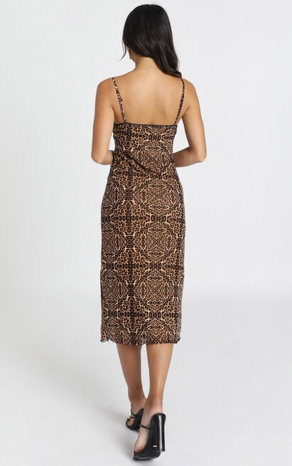 In The Wild dress in leopard print - 12 (L), Brown, hi-res image number null
