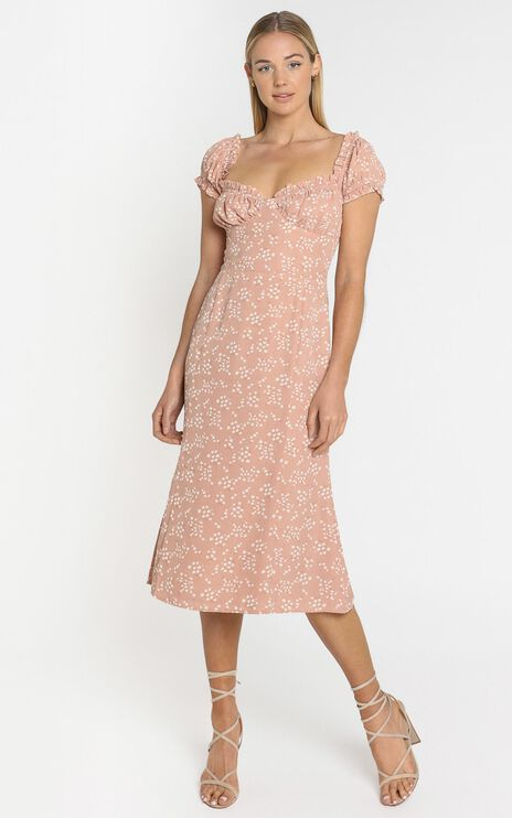 Lulu & Rose - Cosette Midi Dress in Floral