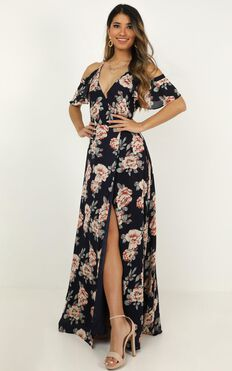 Something To Tell You Dress In Navy Floral