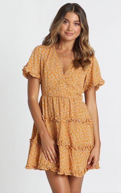 Naomi Dress in mustard - 16 (XXL), Mustard, hi-res image number null