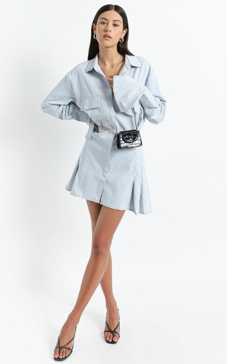 Lioness - Cover Girl Mini Dress in Light Blue