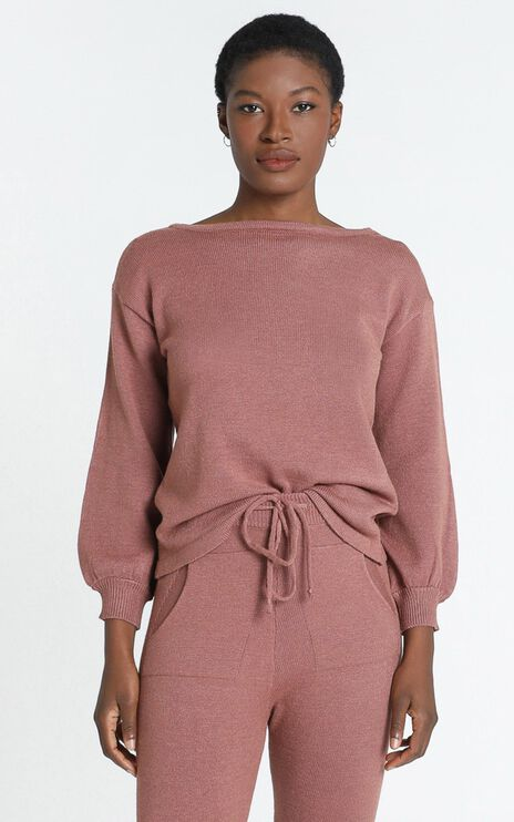 Benny Knit Jumper in Dusty Rose