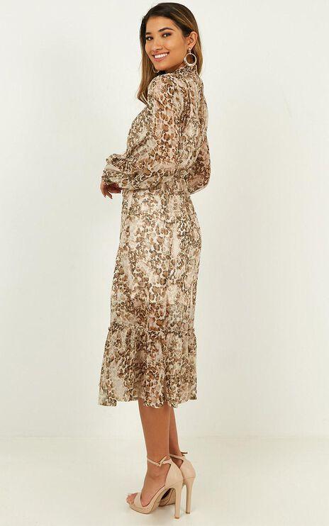Sunny Kiss Dress In Leopard Print