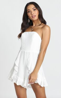 Think Pretty Playsuit In White